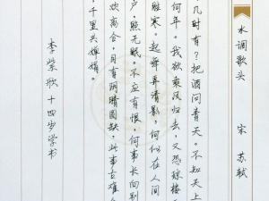 李紫欣  行书  七级
